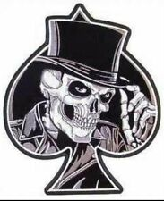 ACE OF SPADES DEATH CARD SKULL GRIM REAPER LAPEL VEST HAT PIN UP US TIE TAC WOW