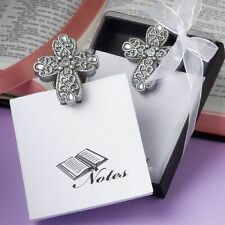 30 - Cross Design Magnetic Memo Pads - Wedding Favors - Free US Shipping