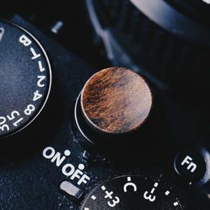 Wooden Shutter Release Button For FujiFilm Camera For Fuji Walnut Wood