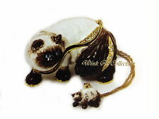 Himalayan Cat Bejeweled Trinket Box