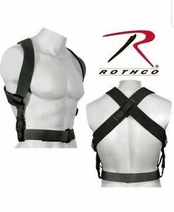 Combat Duty Belt  Suspenders Tactical Adjustable Black Hold your pants up!