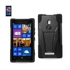 Nokia Lumia 925 Case Hybrid Heavy Duty Protect Cover Shockproof Kickst