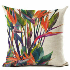 Pillow Case, Square Cushion Cover for Sofa Home Decor Multicoloured w Flowers