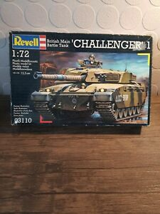 Revell Challenger. British main battle tank model. 1-72.