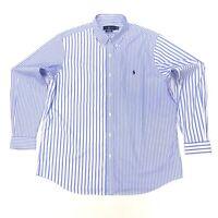 Ralph Lauren Men's Classic Fit Striped Shirt In Size L Blue/White