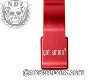 for Ruger 10/22 Extended Mag Speed Lever Release Red LONG Got Ammo? Text