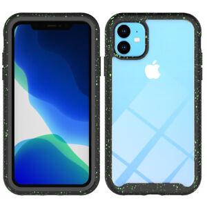iPhone 11 Case, Full Body Heavy Duty (Green Spot Black)