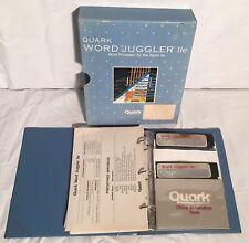 """Quark WORD JUGGLER IIe Apple II II+ //e Software 5.25"""" Disk Box TESTED & WORKING"""