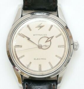 Rare Men's WITTNAUER Electro-Chron Swiss Watch Lightning Hands SERVICED Working!