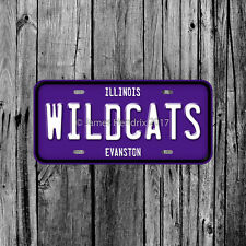 Northwestern University Wildcats Evanston Illinois License Plate