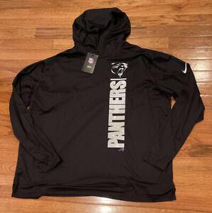 Men's Carolina Panthers Nike Fan Gear Team Stack Hoodie 3XL NWT $60