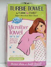 "Turbie Towel by Turbie Twist Super Absorbent 18"" x 38"" Hair Towel Magenta"