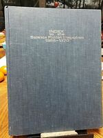 INDEX TO THE SCIENCE FICTION MAGAZINES 1966-1970 hc 1971 1st ed.