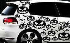 99x Hexe Sterne Auto Aufkleber Wandtattoo Hexenkutsche Gothic Halloween Kürbis 1