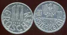 AUSTRIA AUTRICHE 10 groschen 1992  ( it )