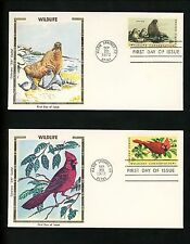 US FDC #1464-1467 Colorano 1972 Warm Springs OR Wildlife Conservation Set of 4
