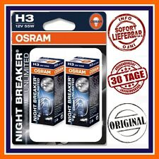 2X OSRAM H3 Nightbreaker Unlimited + 110% ABBAGLIANTE Skoda Audi Subaru Mazda