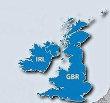 UK United Kingdom & Ireland GPS Map 2018 for Garmin devices on MicroSD