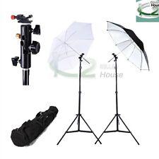 Photo Studio Soft Umbrellas Light Stand Flash Speedlite + Hot Shoe Holder Mount