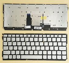 NEW For Lenovo IdeaPad yoga 900s-12ISK Keyboard backlit US silver No Frame