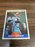 RANDY JOHNSON 1989 SCORE CARD # 645 MONTREAL EXPOS ((ROOKIE))