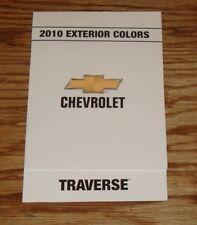 2010 Chevrolet Traverse Exterior Interior Colors Foldout Sales Brochure 10 Chevy