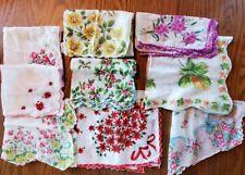 Vintage Lot Of 9 Handkerchiefs Hankies