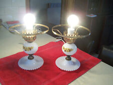 Pair Vintage 1970s retro (Sheraton) Bedside lamp bases-NO SHADES - working  well