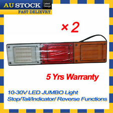 2 x 12v 24v LED Jumbo Tail Light Trailer Caravan Truck UTE Camper