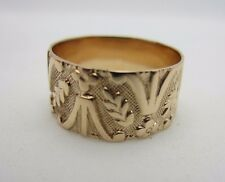 Victorian Antique Vintage 10K Rose Gold Wedding Ring Band 7.7 mm