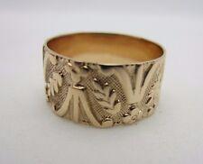 Victorian Antique Vintage 10K Rose Gold Wedding Ring Band 7.7 mm