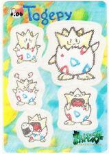 BANDAI Japanese Pokémon CARDDAS Sticker 1998! *Togepi*!