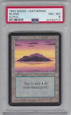 ISLAND card ALPHA set PSA 8 Graded NM-MT Magic the Gathering MTG 1993