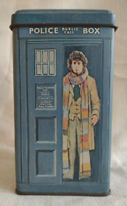 Vintage Dr. Who Tardis Metal Bank w/ Tom Baker BBC 1980