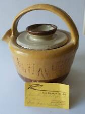 Handmade Earth Tones Artisan Pottery Clay Teapot with Lid By Russ Currey
