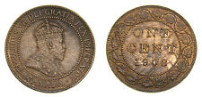 Canada 1908 Large One Cent King Edward VII Extremely Fine 45 with Scratches
