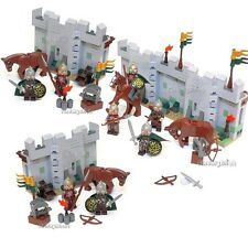 Lego 4 Fortress Wall Eomer & Rohan Soldier Lord of the Ring No Box from 9471 NEW