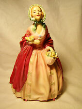 "Royal Doulton Porcelain Lady Figurine Rosebud 7 1/2"" 1945 Figure Retired 1952"