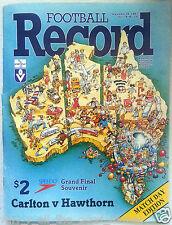 VFL Football Record 1987 GRAND FINAL CARLTON BLUES Premiers MATCH DAY EDITION