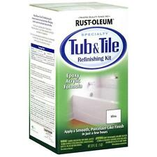 Rust-Oleum 7860519 Tub And Tile Refinishing 2-Part Kit White Repairs Porcelain