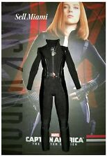 1/6 Hot Toys Captain America Black Widow Jumpsuit MMS239 US Seller