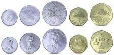 HAITI COMPLETE COIN SET 5+20+50 Centimes +1+5 Gourdes 1997-2013 UNC LOT of 5