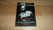 THE BEAT / ELECTRIC SIX - PROMO POSTCARD FOR OCTOBER / NOVEMBER 2016 GIG