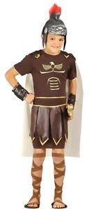 Boys Ancient Roman Soldier Gladiator Greek Warrior Fancy Dress Costume 5-12 yrs