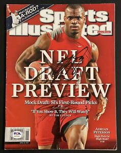 Adrian Peterson Signed Autographed Sports Illustrated Magazine Vikings PSA/DNA