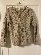 Arancrafts Merino Wool Hooded Cardigan