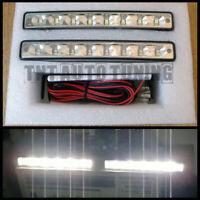 Kit Faros Luz Diurna para Coche 8 LED 2x4W 12V Universal DRL 15,5cm Blanco