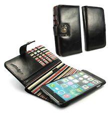 Alston Craig Gen Leather Wallet RFID Blocco Custodia Cover per iPhone 6 Plus-Nero