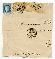 LETTRE GRAND FRAGMENT / AFFRANCHISSEMENT COMPOSE / LYON 1874
