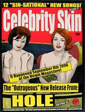 Hole Celebrity Skin Album Release 1998 Silkscreen Poster Sperry Courtney Love
